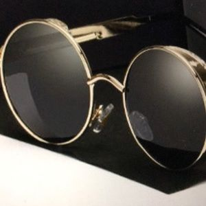 Other - Retro Round Metal HD Polarized Punk sunglasses